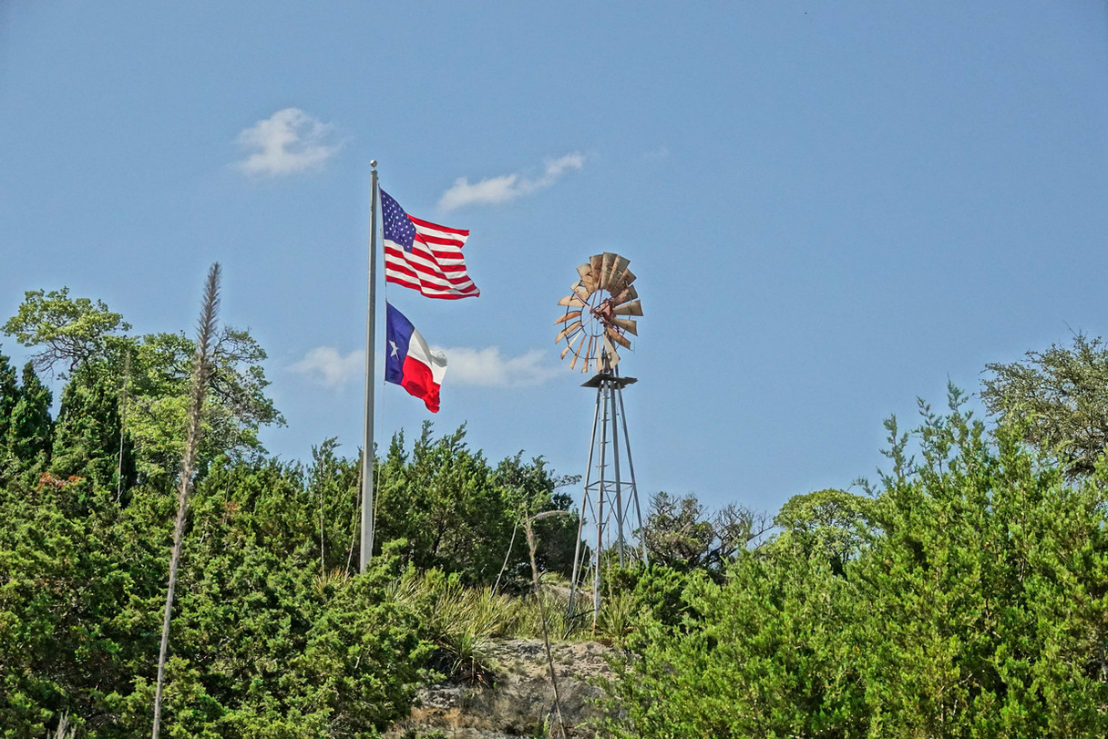 Windmill and Flags