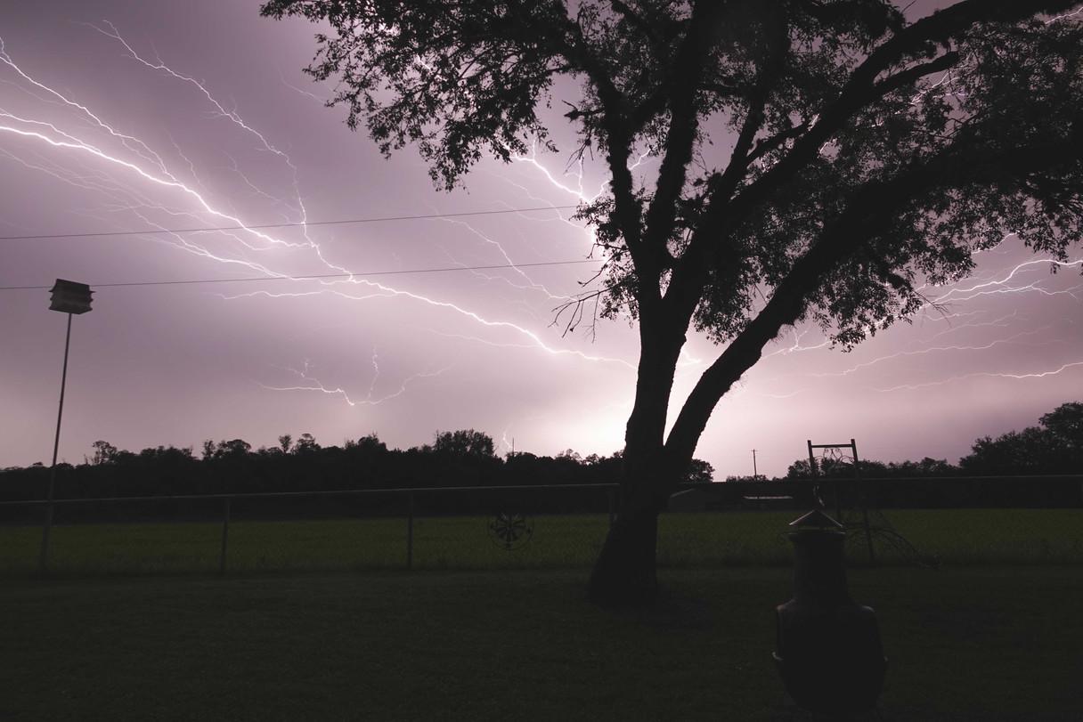 TX Lightning Bolts Across the Sky