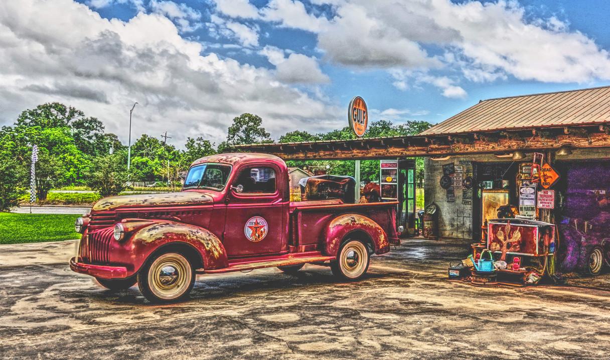 Old Garage Truck and Gulf Sign web.jpg