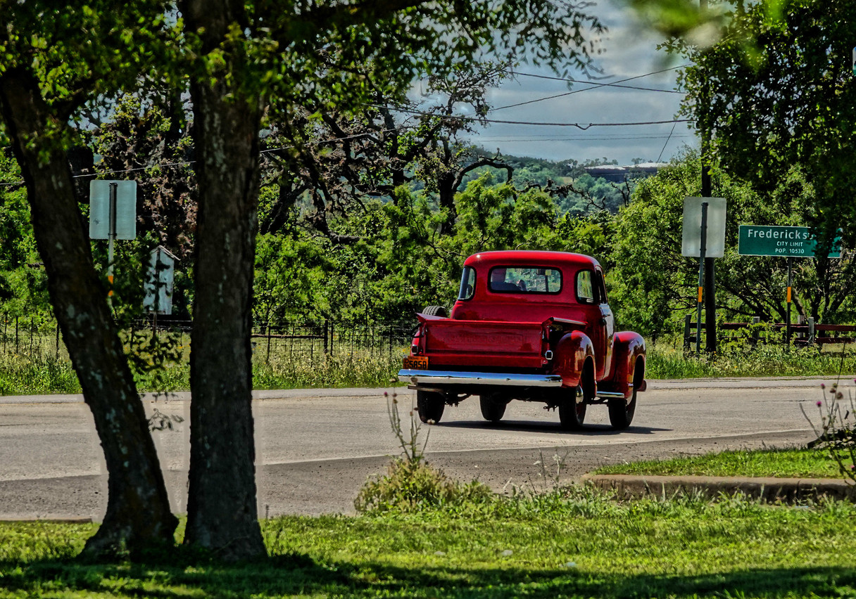 52 Chevy leaving town