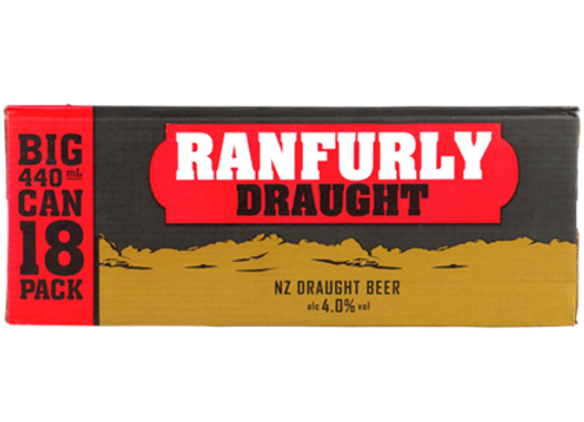 RANFURLY DRAUGHT 18PK CANS