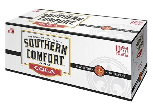 SOUTHERN COMFORT 10PK CANS 4.5%