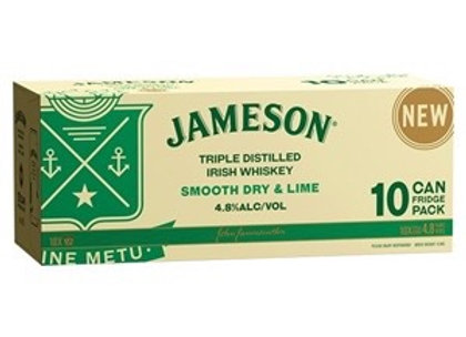 JAMESON SMOOTH DRY & LIME 10PK CANS 4.8%