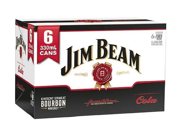 JIM BEAM 6PK CANS