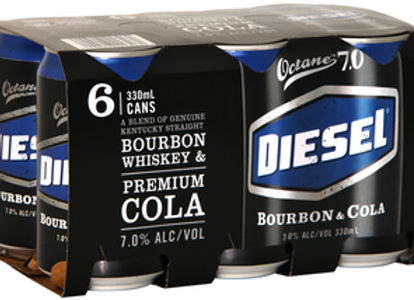 DIESEL BOURBON & COLA 6PK 330 ML CANS