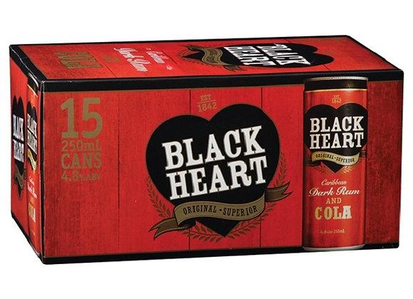 BLACK HEART 15PK CANS 5%
