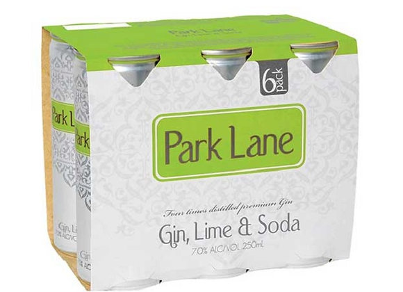 PARK LANE GIN LIME & SODA 6PKx2 CANS