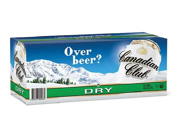 CANADIAN CLUB 10PK CANS 4.8%