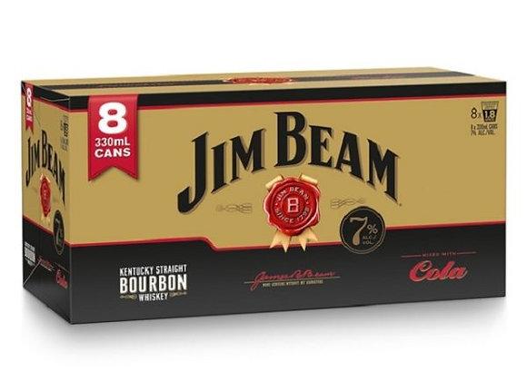 JIM BEAM & COLA 8PK CANS 7%