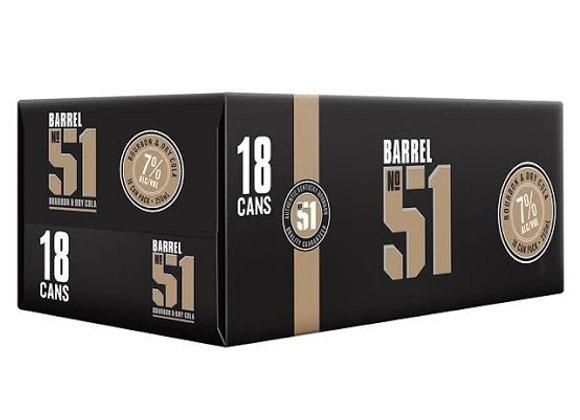 BARREL 51 18PK CANS 7% 250ML