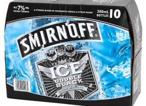 SMIRNOFF DOUBLE BLACK 10PK BTLS 7%