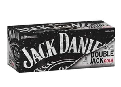 JACK DANIEL DOUBLE JACK COLA 10PK CANS 6.9%