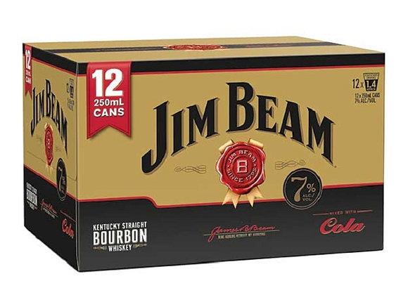 JIM BEAM & COLA 12PK CANS 7%