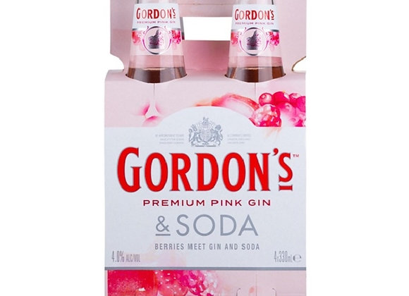 GORDONS PINK 4PKx2 BTLS
