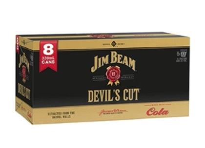 JIM BEAM DEVILS CUT 8PK CANS 6.6%