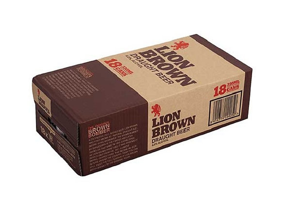 LION BROWN 18PK CANS