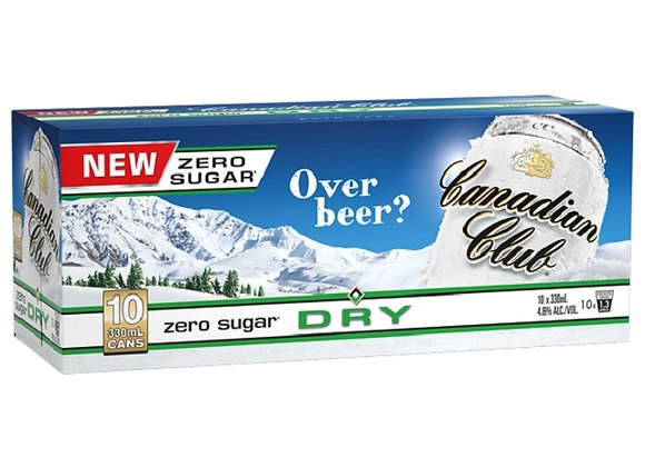 CANADIAN CLUB ZERO 10PK CANS 4.8%