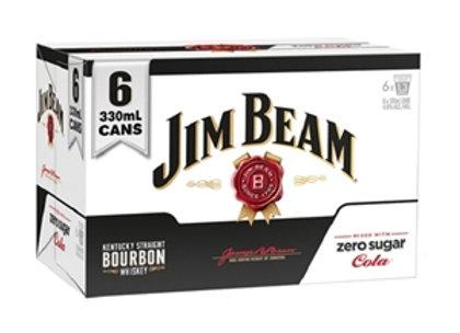 JIM BEAM ZERO 6PK CANS