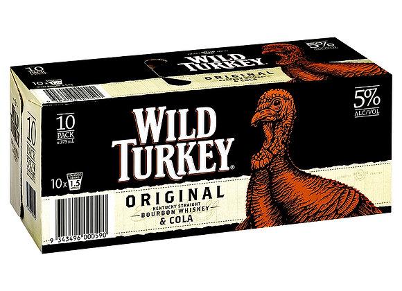 WILD TURKEY ORIGINAL 10PK CANS 5%