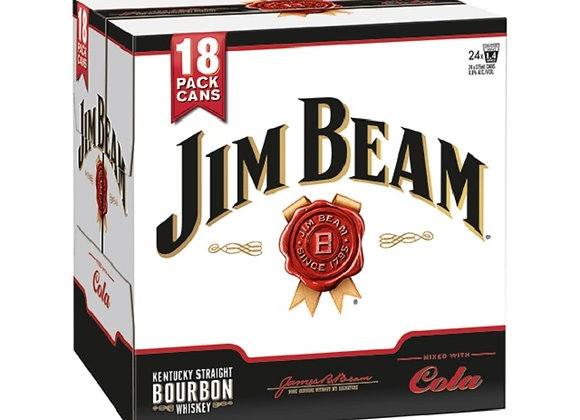 JIM BEAM & COLA 18PK CANS 4.8%