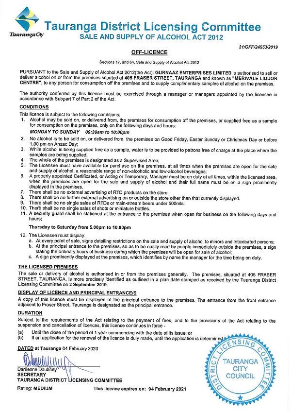 Licence (signed) & DLC Decision - OFF -