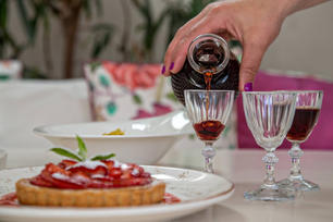 …and our homemade liqueur along with the desserts.