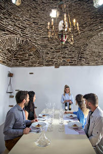 During a Food & Wine Pairing session we taste Greek Wine!