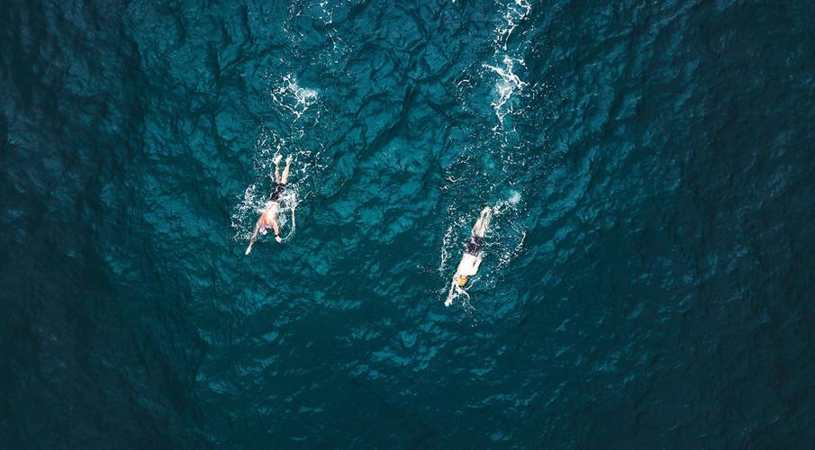 Swim in crystal waters