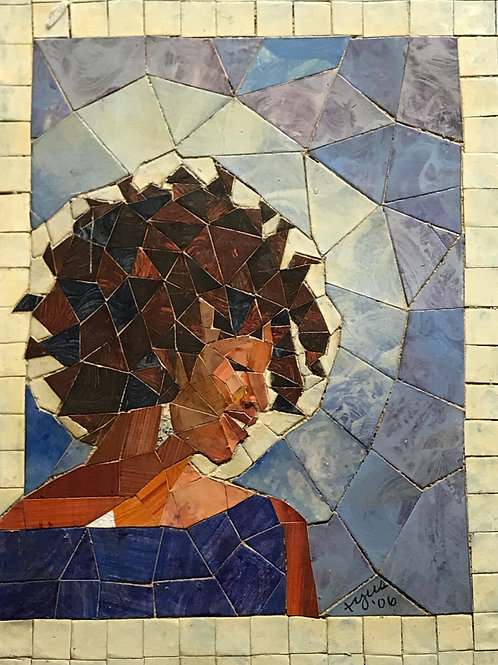 """PRETTY WOMAN"" Original Mosaic Tile Painting"