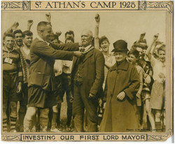 First Lord Mayor at St Athan's Camp