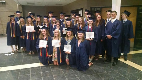 Chelsea High School Graduates on Graduaton Day