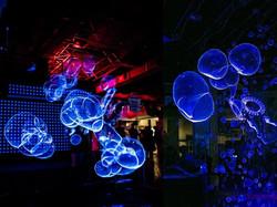 Ультрафиолетовое шоу мыльных пузырей