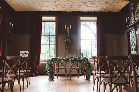 Forty Hall Wedding venue in Enfield, set up for a ceremony