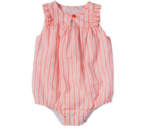 Bonheur Du Jour Romper -Pink Stripe