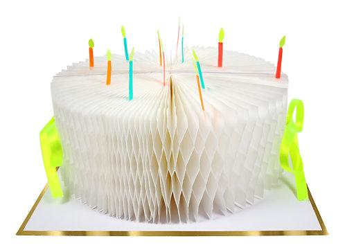 Meri Meri -Birthday Cake Honeycomb Card-