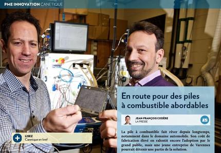 On parle de nous, article dans La Presse+ sur Canetique