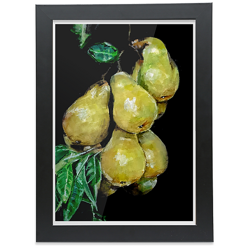 PAINTING OF PEARS ON A PEAR TREE
