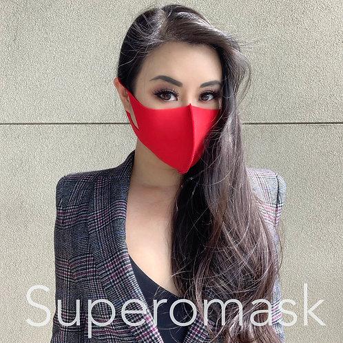 Red Antibac Mask with Bespoke Stitching | 1 piece