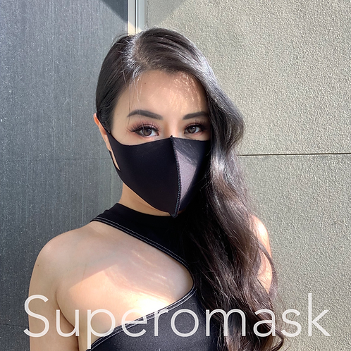 Black Antibac Mask with Bespoke Stitching | 1 piece