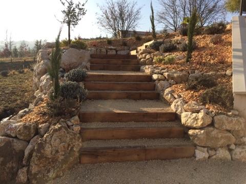 création escalier paysager