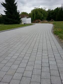 chemin d'accès en pavés