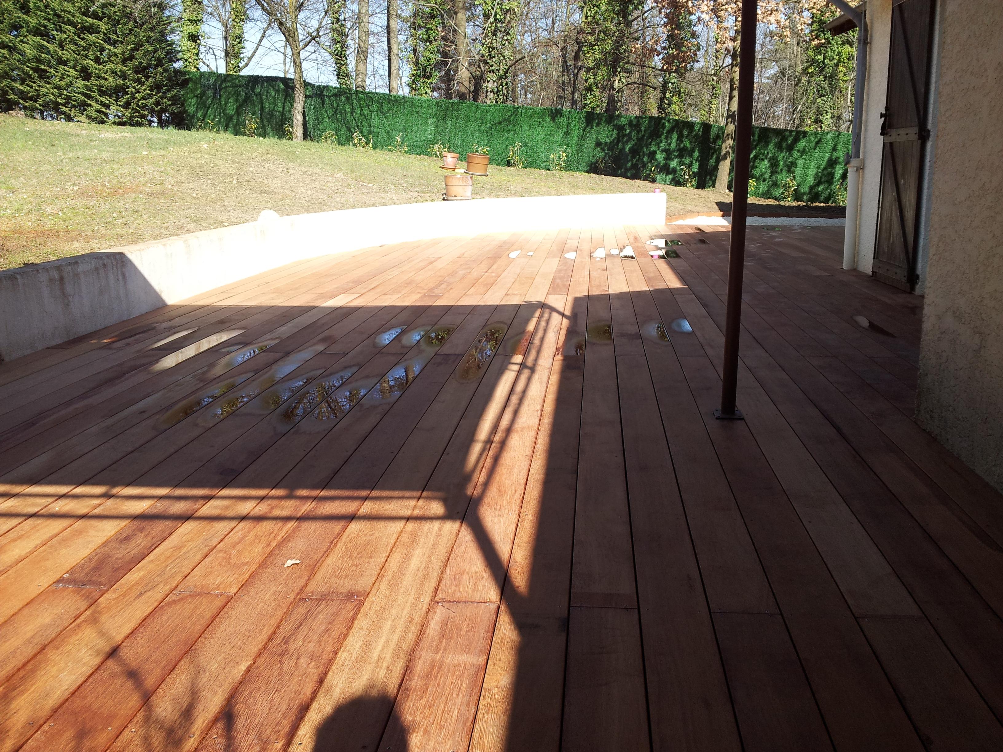 terrasse bois en merbeau