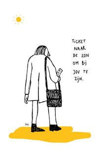 Postkaart zon.