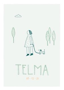Geboortekaartje Telma.