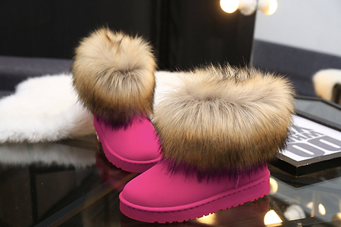 FAUX FUR ANKLE BOOTIES