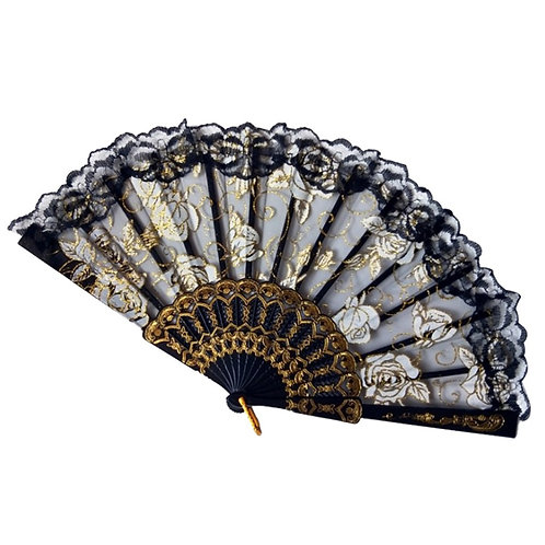SILK BAMBOO FOLDING HANDFAN