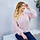 Thumbnail: KNITTED PUFF SLEEVED PULLOVER