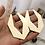 Thumbnail: GEOMETRIC HOLLOW DROP EARRINGS