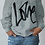 "Thumbnail: ""LOVE"" COLD SHOULDER SWEATSHIRT"