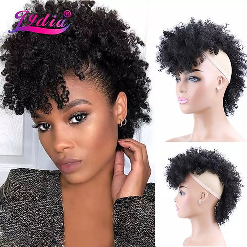 SYNTHETIC KINKY CURLY FROHAWK CLIP-IN